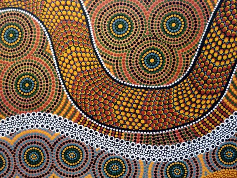 Это орнаменты аборигенов Австралии, змея