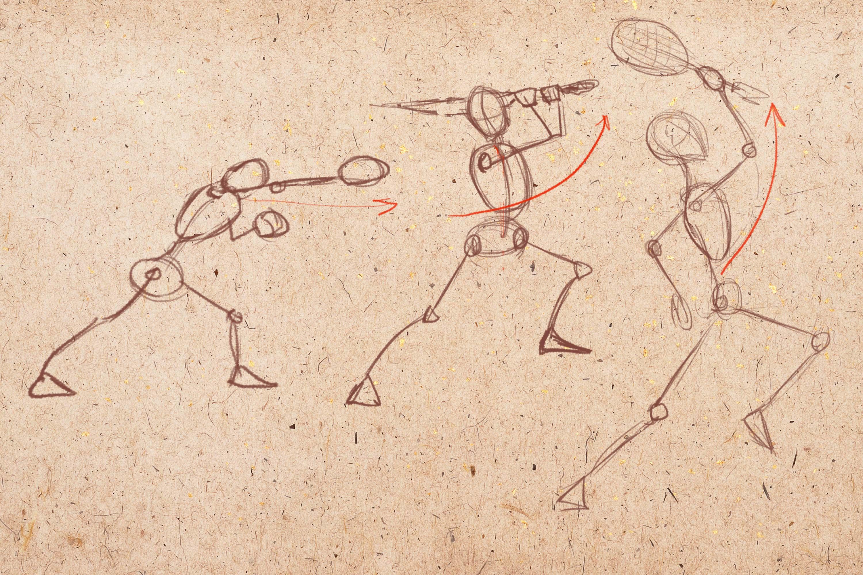 человек в движении спорт