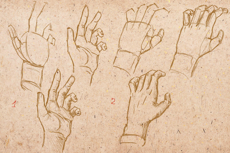 рука в различных ракурсах